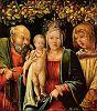 Madonna zwischen Joseph und dem Evangelisten Johannes
