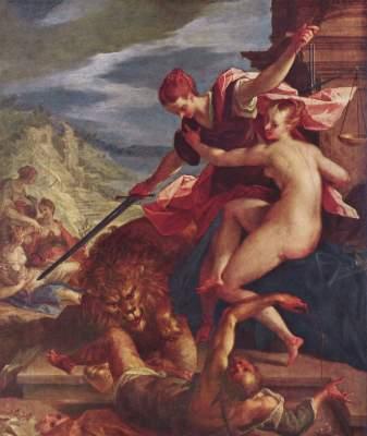 Sieg der Wahrheit unter dem Schutze der Gerechtigkeit Alte Pinakothek