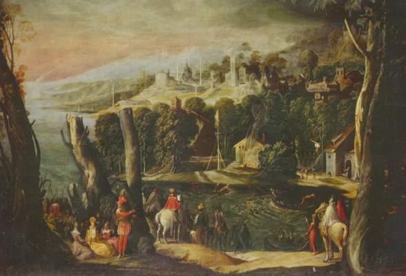 Landschaft mit Damen und Reitern Galleria Borghese