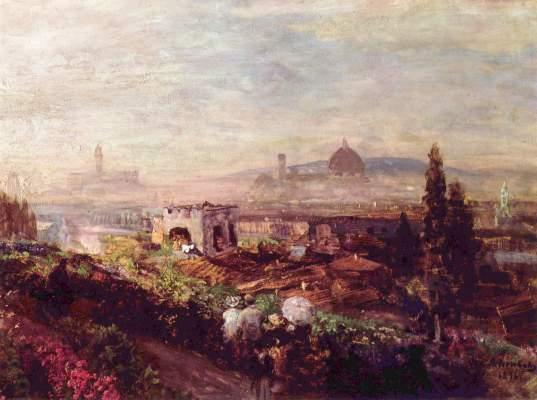 Blick auf Florenz Kunstmuseum