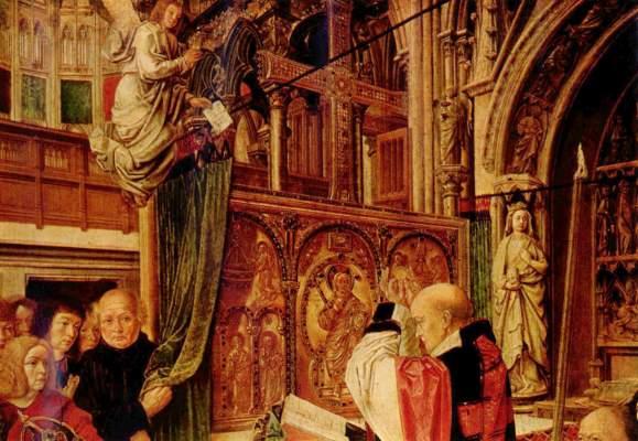 Die Messe des Hl. Ägidius (Ausschnitt) National Gallery