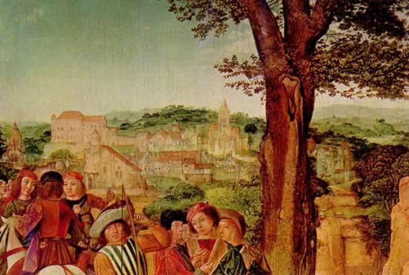 Hl. Ägidius und die Hindin (Ausschnitt) National Gallery
