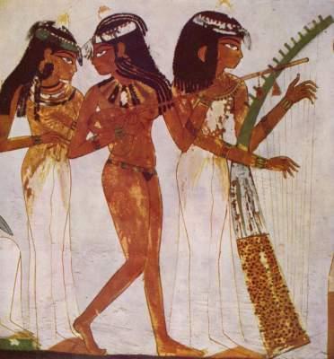 Tänzerinnen und Musikantin Grabmal des Nakht