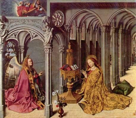 Verkündigungsaltar, Mittelstück: Verkündigung St. Madeleine