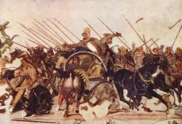 Alexanderschlacht (aus der Casa del Fauno in Pompeji, Ausschnitt) Galleria Nazionale di Capodimonte