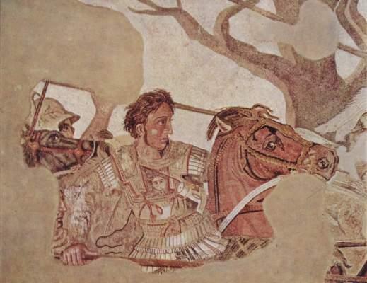 Alexanderschlacht, Ausschnitt: Alexander der Große Galleria Nazionale di Capodimonte