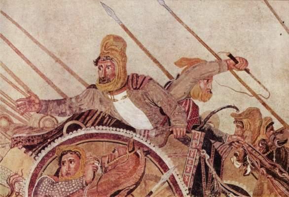 Alexanderschlacht, Ausschnitt: Darius III. Galleria Nazionale di Capodimonte