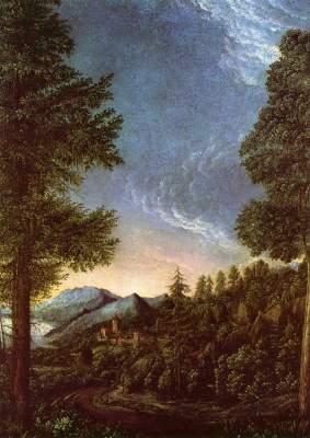 Donaulandschaft bei Regensburg mit dem Scheuchenberg Alte Pinakothek