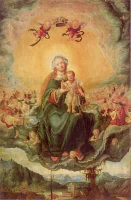 Maria in der Glorie Alte Pinakothek