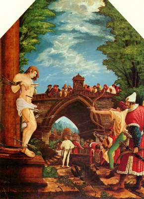Sebastiansaltar: Das Martyrium des Hl. Sebastian Augustiner Chorherrenstift