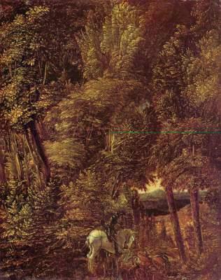 Waldlandschaft mit St. Georges Drachenkampf Alte Pinakothek