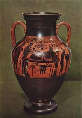Herakles auf dem Ruhebett (Rückseite) Antikensammlungen