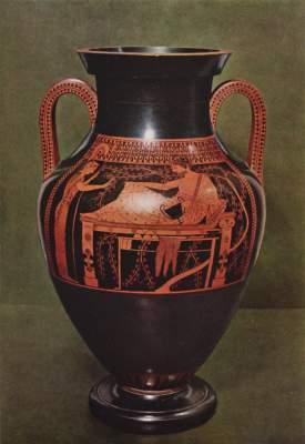 Herakles auf dem Ruhebett (Vorderseite) Antikensammlungen