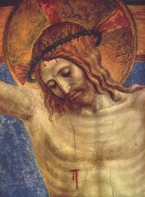 Der Gekreuzigte und San Domenico (Ausschnitt) Museo di San Marco