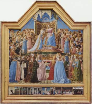 Krönung Mariä und Szenen aus dem Leben des Hl. Dominikus Musée National du Louvre
