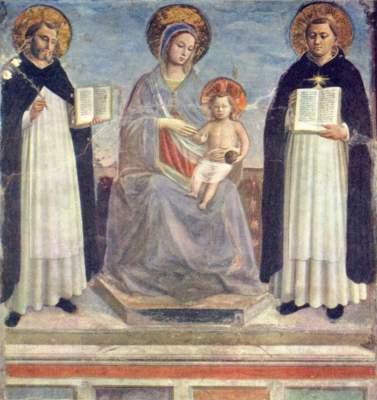 Maria mit den Heiligen Dominikus und Thomas Ermitage