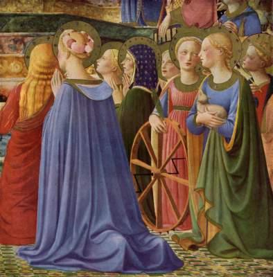 Marienkrönung (Ausschnitt) Galleria degli Uffizi