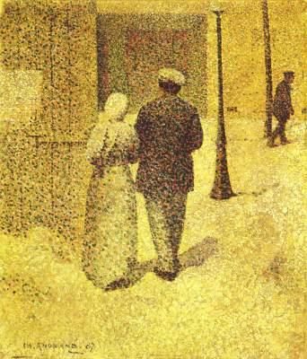 Mann und Frau auf der Straße Musée National d'Art Moderne