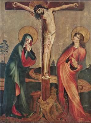 Kreuzigung Christi mit Maria und Johannes d. E. Bayerisches Nationalmuseum