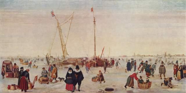 Winterlandschaft mit Schlittschuhläufern Museum Boymans-van Beuningen
