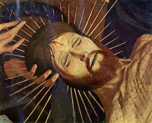 Pietŕ von Villeneuve-les-Avignon, Ausschnitt: Christi Haupt Musée National du Louvre