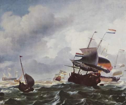Schiffe im Sturm Galleria Pitti