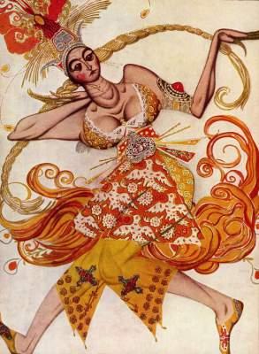 Ballettfigurine zu: Feuervogel Slg. de Béarn