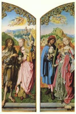 Kreuz-Altar, linker Flügel: Die Hll. Johannes der Täufer und Cäcilia Wallraf-Richartz-Museum