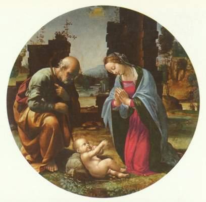 Die Anbetung des Kindes Galleria Borghese