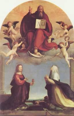 Gottvater mit den Heiligen Maria Magdalena und Katharina von Siena Pinacoteca Civica