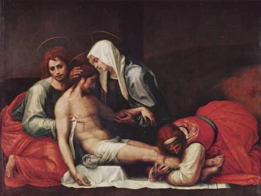 Grablegung Christi Galleria Pitti