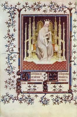 Psalter des Herzogs Jean de Berry, Ausschnitt: König David Bibliothčque Nationale