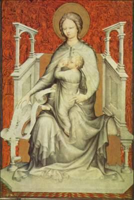 Trčs Belles Heures de Notre-Dame, Ausschnitt: Madonna mit dem Kinde Königliche Bibliothek