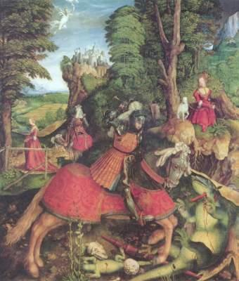 Der Hl. Georg kämpft mit dem Drachen Kunsthistorisches Museum
