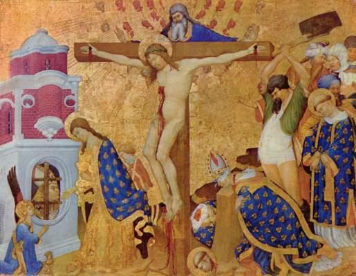 Das Martyrium des Hl. Dionysius mit Christus am Kreuz Musée National du Louvre
