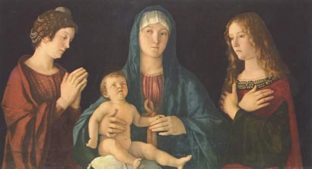 Maria mit dem Kind und den Heiligen Katharina und Magdalena Gallerie dell'Accademia