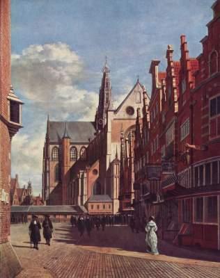 Der große Platz von Haarlem Musée Royaux des Beaux Arts