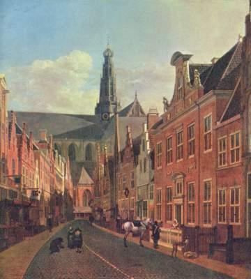 Straße in Haarlem Gemäldegalerie