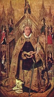 Thronender Hl. Dominikus mit den 7 Kardinaltugenden Museo del Prado