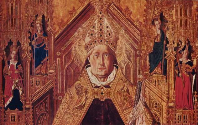 Thronender Hl. Dominikus mit den 7 Kardinaltugenden (Ausschnitt) Museo del Prado