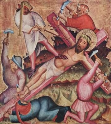 Passionsaltar, linker Flügel: Kreuzannagelung Niedersächsische Landesgalerie