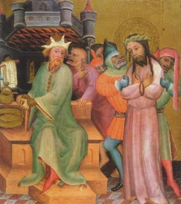 Passionsaltar: Christus vor Pilatus Niedersächsische Landesgalerie