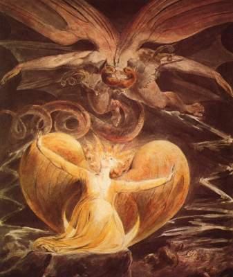 Der große Rote Drache und die Frau, mit der Sonne bekleidet National Gallery of Art