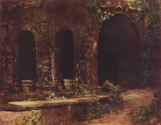 Grotte im Park der Villa d'Este bei Rom Blechen-Gedenkstätte