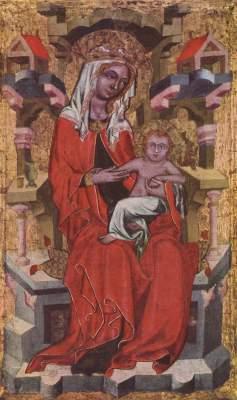 Thronende Madonna Städtische Kunstsammlungen