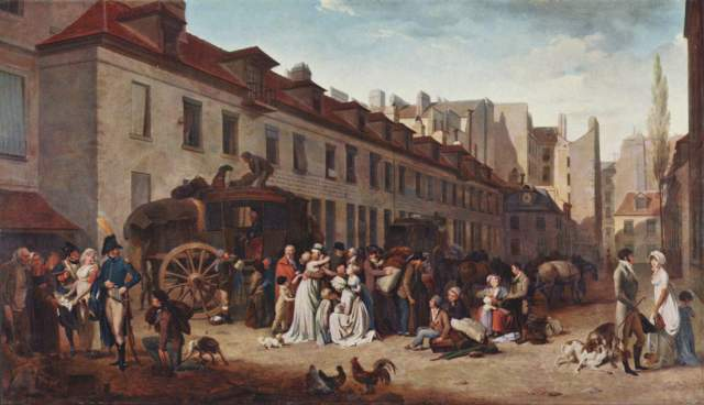 Die Ankunft der Postkutsche Musée National du Louvre