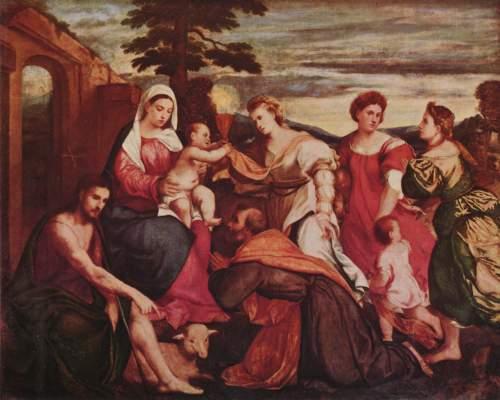 Maria mit den drei theologischen Tugenden Slg. Lord Methuen