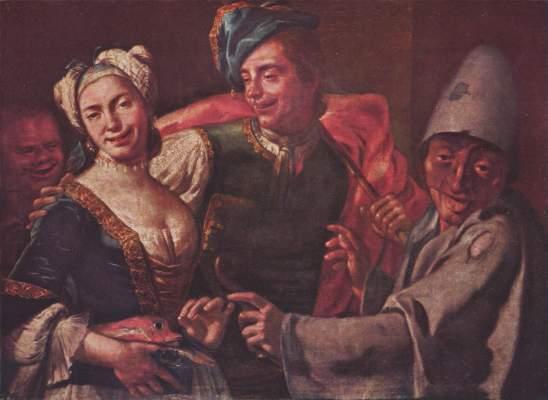 Genreszene mit Masken Galleria Nazionale di Capodimonte