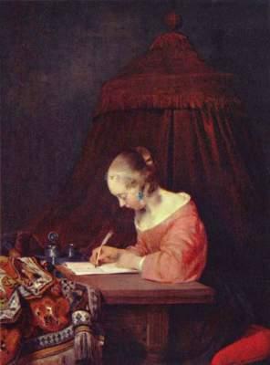 Briefschreiberin Königliche Gemäldegalerie Mauritshuis