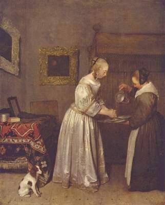 Dame, die sich die Hände wäscht Gemäldegalerie